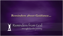 Reminders About Guidance